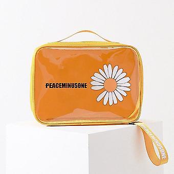 鉛筆ケースポータブル防水化粧品収納バッグバスアメニティオーガナイザー透明ポーチ