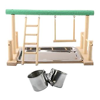 Parrot Bird Perch Table Top Stand  Play For Medium& Large Breeds Home Yard Garden Hanging