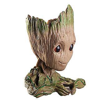 חמוד קריקטורה עץ איש אקווריום קישוט מערה טנק מערה קישוט צמח פרח עציץ בונסאי