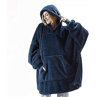 Pocket Blanket Hoodie Coat Warm Cozy Oversized For Winter Unisex