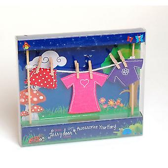 Irish Fairy Door Fairy Clothes Line 3+