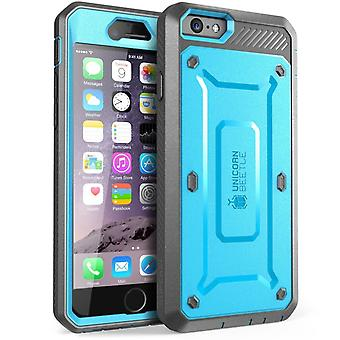 iPhone 6S Case, SUPCASE, Unicorn Beetle Pro Case, Screen Protector Case-Blue/Gray