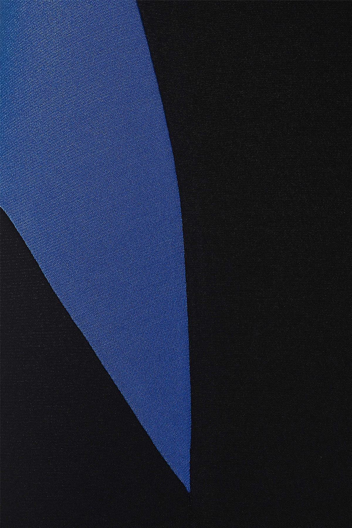 Blue on Black Colour Block Bodycon Dress DR723-10
