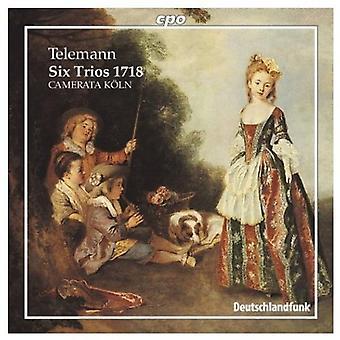 G.P. Telemann - Telemann: Zes Trios 1718 [CD] USA import