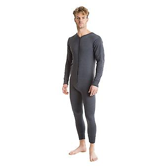 OCTAVE Mens Thermal Underwear All In One Union Suit with Zipped Back Flap