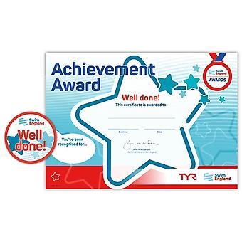 ASA Swim England Well Done Achievement Award - Blank