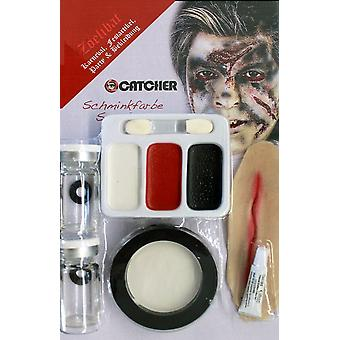 Make-up makeup scar hair chalk set Scarface with contact lenses