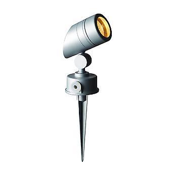 LED Robus korek srebrny GU10 / szary ogród Spike światła