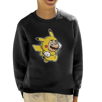 Pika Suit Super Mario Pikachu Pokemon Kid's Sweatshirt
