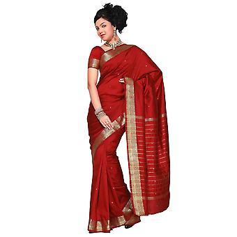 4 stykke indiske kunst silke Sari / Saree, Custom syet bluse & underkjole + Bindi