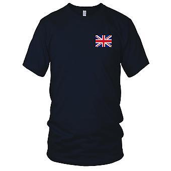 Drapeau National du pays britannique UK Grande-Bretagne - brodé Logo - T-Shirt 100 % coton T-Shirt Mens