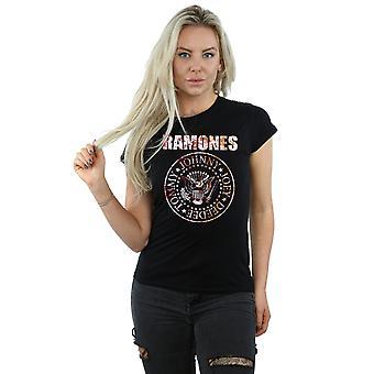 Ramones Women's Flower Rose T-Shirt
