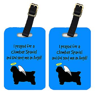 Carolines Treasures  AN1021BT Pair of 2 Clumber Spaniel Luggage Tags