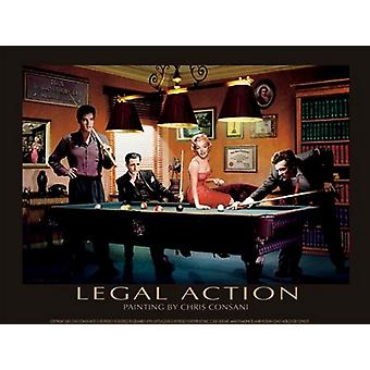 Legal Action Poster Print by Chris Consani (14 x 11)