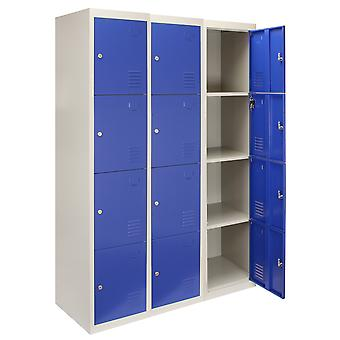 Lockers Lockable Metal Storage 3 x 4 Doors Assembled Changing Room Gym Staff