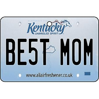 Kentucky - Best Mom License Plate Car Air Freshener