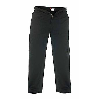 Duke London Mens Deluxe bomull Last stil bukser