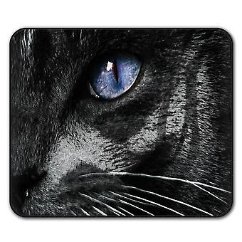 Mystical Animal Eye Cat  Non-Slip Mouse Mat Pad 24cm x 20cm | Wellcoda