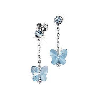 Scout kinderen oorbellen zilveren vlinder blauw meisje 262164100