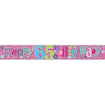 Simon Elvin Foil Banner Happy 65th Birthday