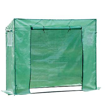 Outsunny Garden Greenhouse with PE Plant Cover, Windows and Zipper Door for Fruit and Veg 198L x 77W x 149-168H cm