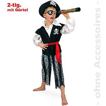 Capitão pirata mais amável de traje fantasia de pirata corsário infantil