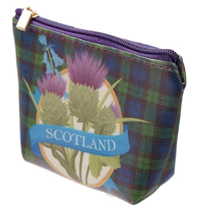 Bonnie Scotland PVC Purse with Thistle