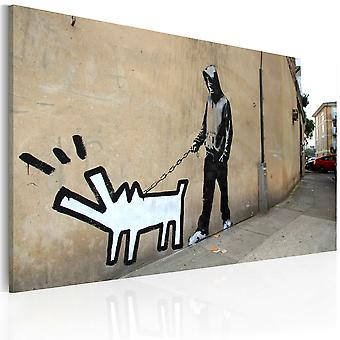 Canvas Print - Barking dog (Banksy)