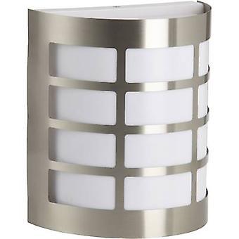 Brilliant Rune 96182/82 Outdoor wall light Energy-saving bulb, LED (monochrome) E-27 60 W Stainless steel