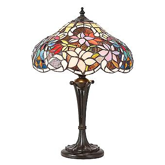 Interiors 1900 Sullivan Colourful Flower Effect Tiffany Table Lamp