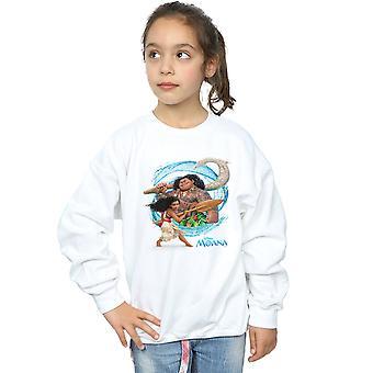 Disney Girls Moana And Maui Wave Sweatshirt
