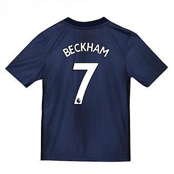 2018-2019 Man Utd Adidas Third Football Shirt (Kids) (Beckham 7)