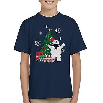 Stay Puft Ghostbusters autour T-Shirt de l'arbre de Noël enfant