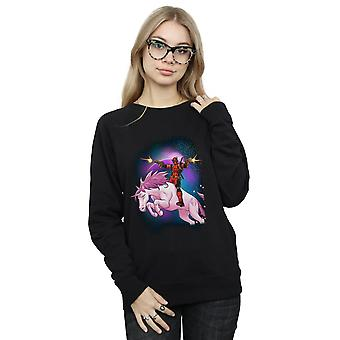 Marvel Women's Deadpool Space Unicorn Sweatshirt