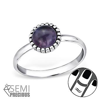 Round - 925 Sterling Silver Midi Rings - W30307x