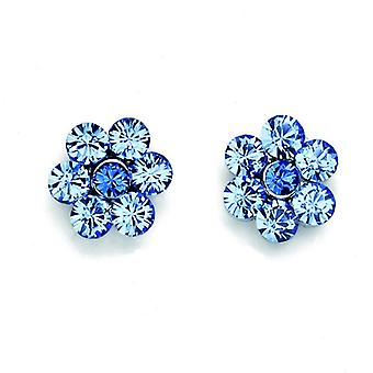 Oliver Weber Post Earring Flower Rhodium Crystal