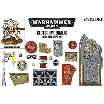 Games Workshop Warhammer 40.000 Sector Imperialis grandes Base Kit detalhe