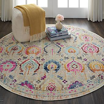 Vintage Kashan Circluar dywany Vka04 przez Nourison w kolorze kości słoniowej Multi