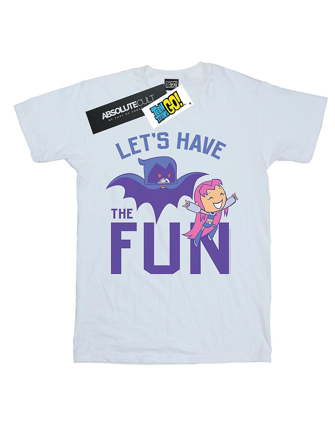 DC Comics Women's Teen Titans Go Let's Have The Fun Boyfriend Fit T-Shirt