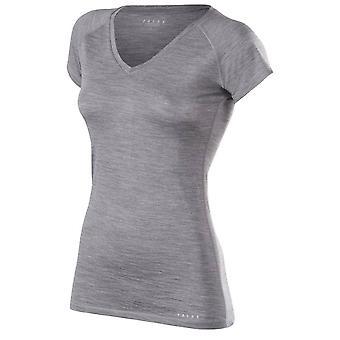 Falke-Seide-Wolle-Kurzarm-Shirt - Heather Grey