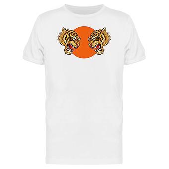 Doppelte Tiger Japanisch T-Shirt Herren-Bild von Shutterstock