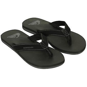 Quiksilver Molokai para hombre sandalias Deluxe - negro/gris