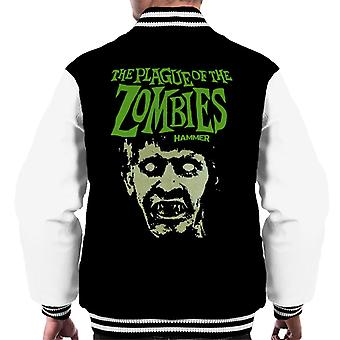 Hammer The Plague Of The Zombies Face Poster Men's Varsity Jacket