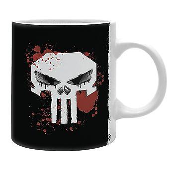 Marvel Tasse The Punisher  weiß, bedruckt, aus Keramik, F³llmenge ca. 320 ml., im Geschenkkarton.