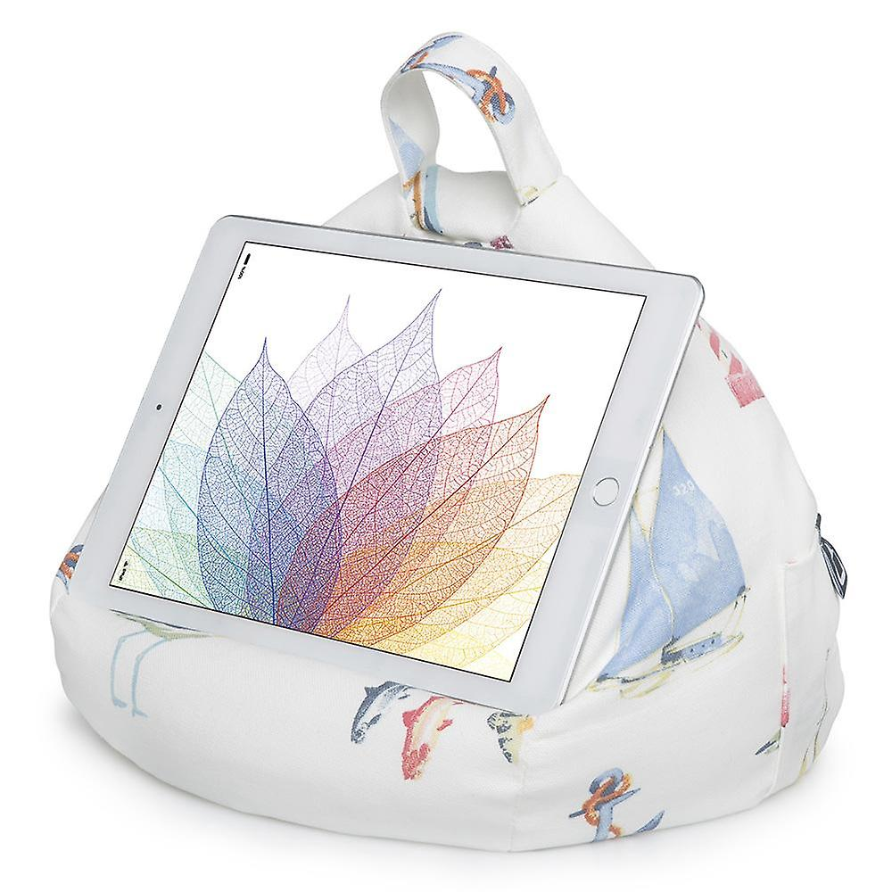 Ipad, tablet & ereader bean bag stand by ibeani - nautical