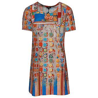 Aventures des toiles impression d'art à manches courtes robe de soleil en coton
