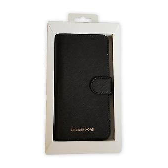 Michael Kors Saffiano Leather Folio Wallet Case for Galaxy S8 Plus - Black