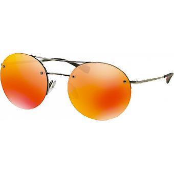 Prada SPS54R Gunmetal mirrored Brown Orange