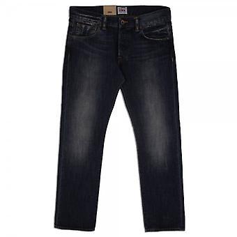 Edwin Denim ED-71 Slim Fit Japanese Denim Jean, 12 Oz, Blue Blurred Wash