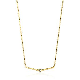 Ania Haie Gold Plated Sterling Silver 'Touch Of Sparkle Shimmer' Solid Bar Necklace